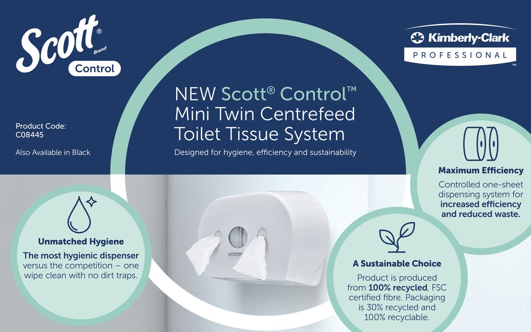 The most hygienic toilet tissue system in the marketplace